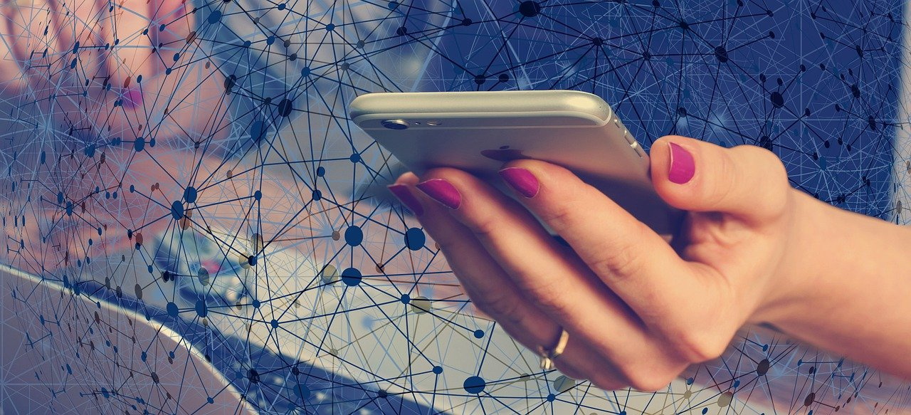 smartphone, hand, web